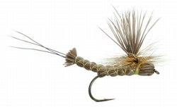 Brown Paradrake Parachute Dry Fly