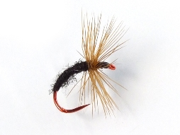 Gujo Kebari - Dry Fly/Black with Red Hook