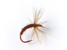 Gujo Kebari - Dry Fly/Brown with Red Hook