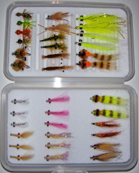 Bonefish Master Fly Selection-54 Flies in Multiple Fly Boxes