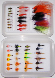 Great Lakes Salmon/Steelhead Guide Fly Selection-45 Flies