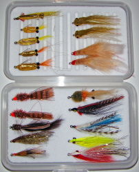 Redfish/Seatrout Master Fly Selection-36 Flies in Multiple Fly Boxes
