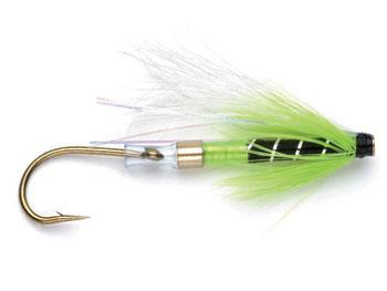 Brass Chartreuse/Black Tube Fly