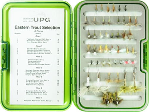 Eastern Guide Trout Selection-UPG Fly Box- 46 Flies