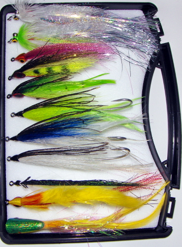Electric Bill Billfish Fly <br /> #4/0 - Peacock/Chartreuse