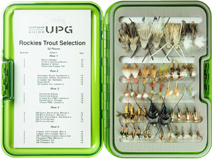 Rockies Guide Trout Selection-UPG Fly Box-52 Flies