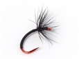 Ishigaki Kebari - Reverse Hackle/Black, C12-B Red Hook