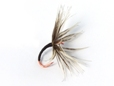 Sakasa Kebari - Reverse Hackle/Black with Red Hook